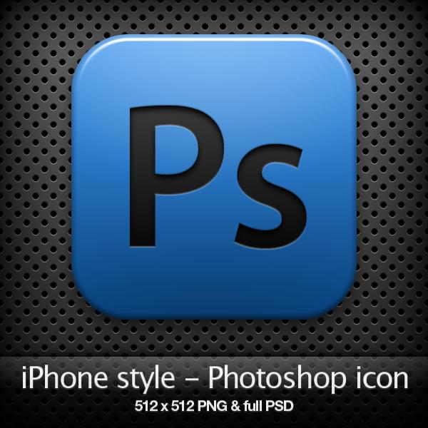 iPhone style - Ps CS4 icon