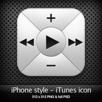 iPhone style - iTunes icon