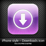 iPhone style - Downloads icon