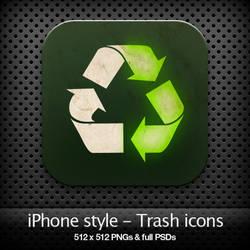 iPhone style - Trash icons
