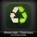 iPhone style - Trash icons