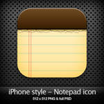 iPhone style - Notepad icon