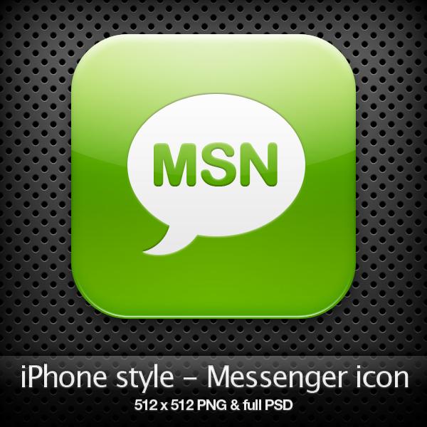 iPhone style - Messenger icon by YaroManzarek