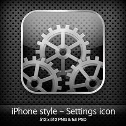iPhone style - Settings icon by YaroManzarek