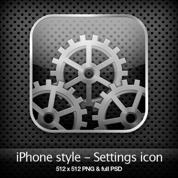 iphone settings icon iphone style settings icon by yaromanzarek on deviantart 12307