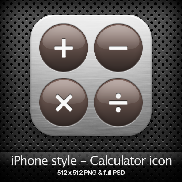 iPhone style - Calculator icon by YaroManzarek
