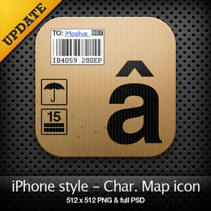 iPhone style - Char. map icon