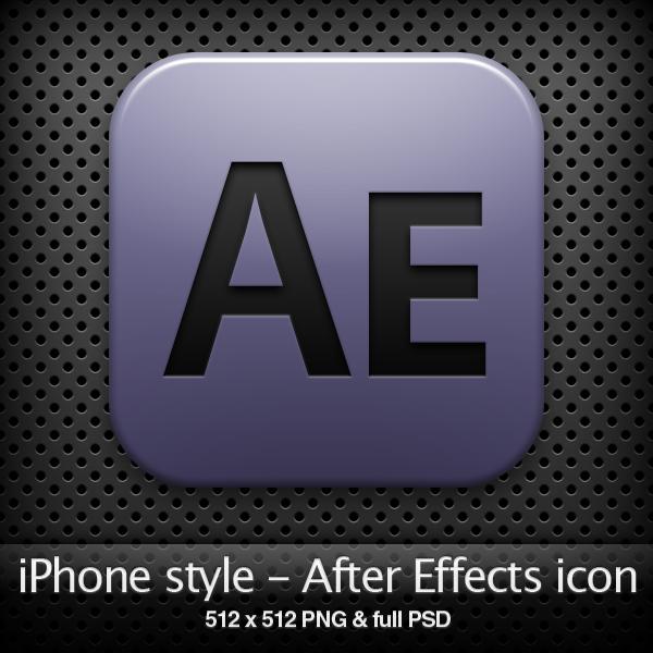 iPhone style - Ae CS4 icon by YaroManzarek