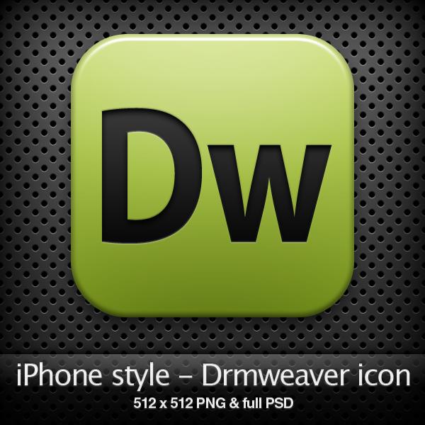 iPhone style - Dw CS4 icon by YaroManzarek