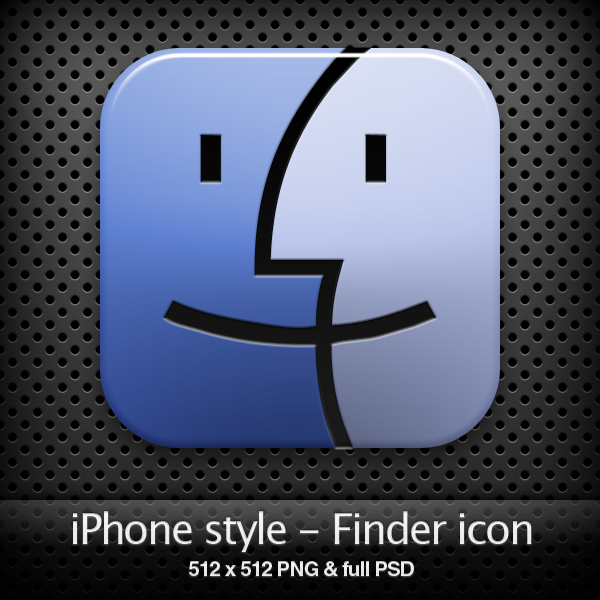 iPhone style - Finder icon by YaroManzarek