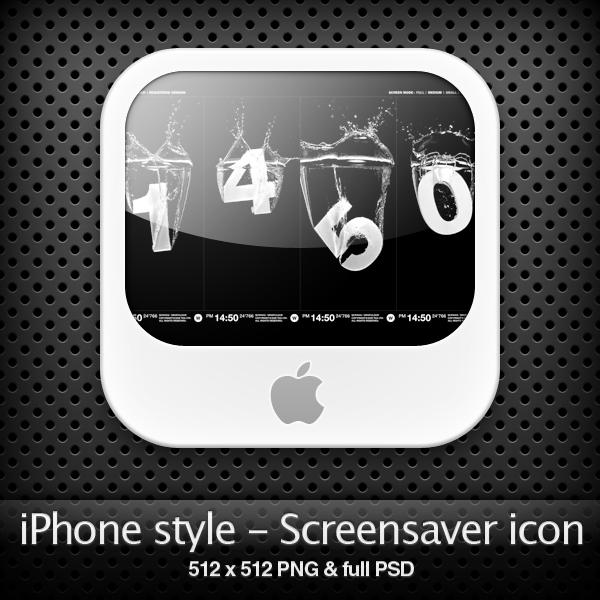 iPhone style - Screensavr icon by YaroManzarek