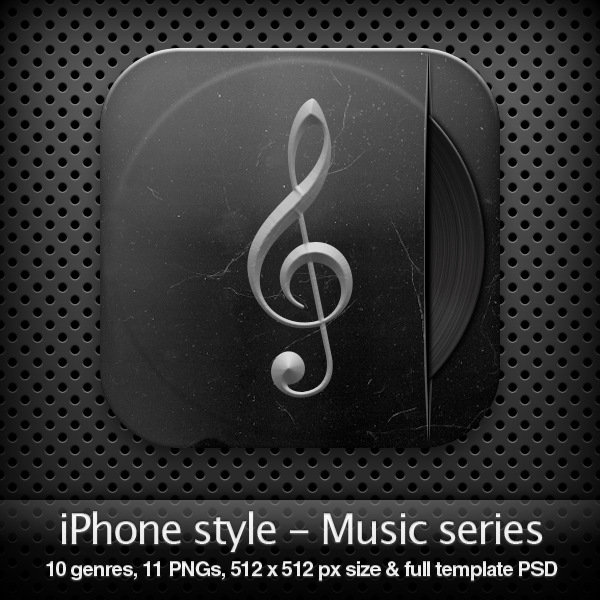 iPhone style - MUSIC SERIES
