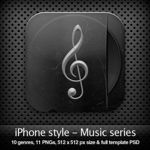 iPhone style - MUSIC SERIES by YaroManzarek