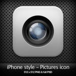 iPhone style - Pictures icon