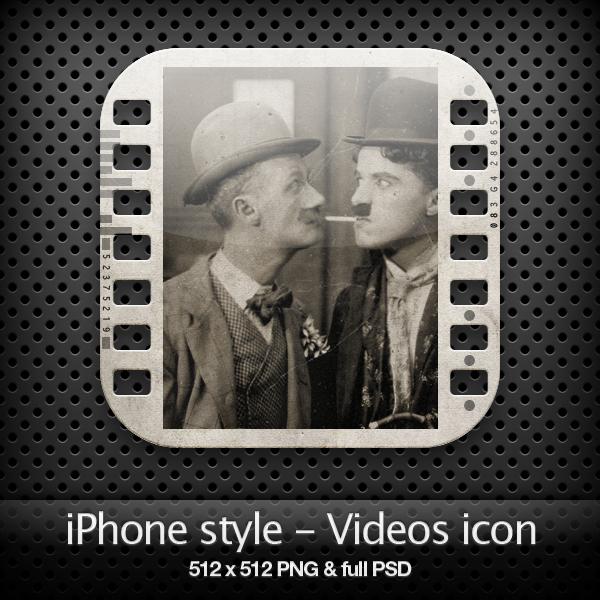 iPhone style - Videos icon by YaroManzarek