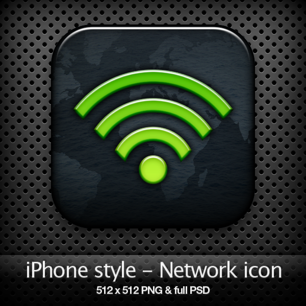 iPhone style - Network icon by YaroManzarek