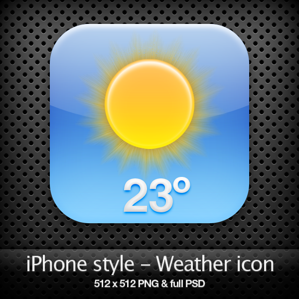 weather icons on iphone iphone style weather icon by yaromanzarek on deviantart 16468