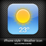 iPhone style - Weather icon