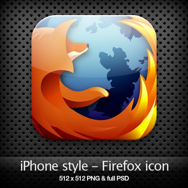 iPhone style - Firefox icon by YaroManzarek