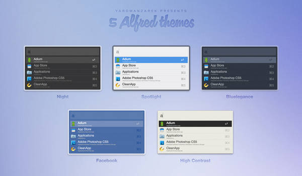 5 Alfred themes
