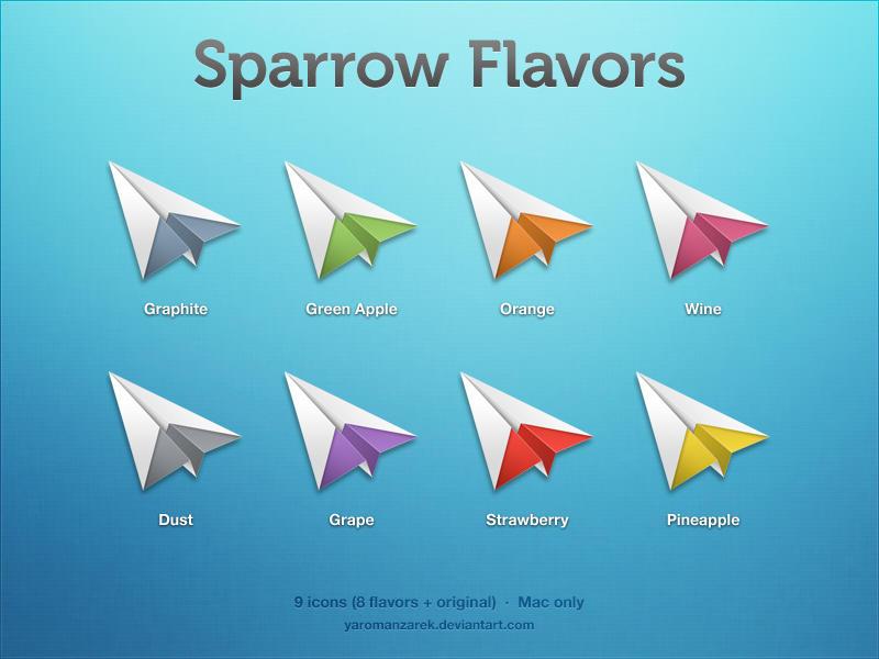 Sparrow flavors by YaroManzarek