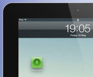 iPad 2 psd - black