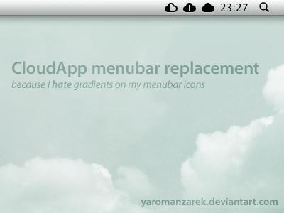 CloudApp menubar replacement by YaroManzarek