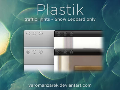 Plastik traffic lights