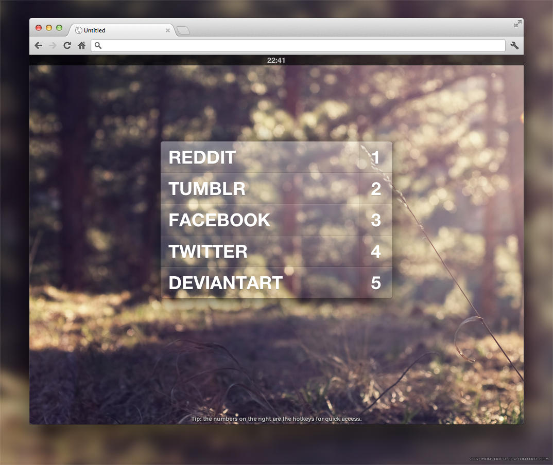 Awesome startpage by YaroManzarek