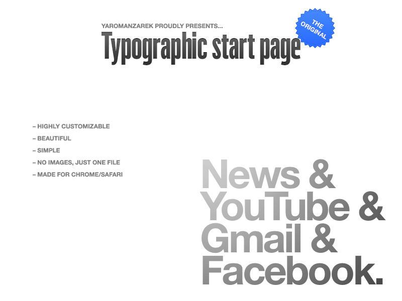 Typographic startpage by YaroManzarek