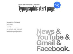 Typographic startpage
