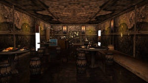 Old time bar with a few bones -DL-