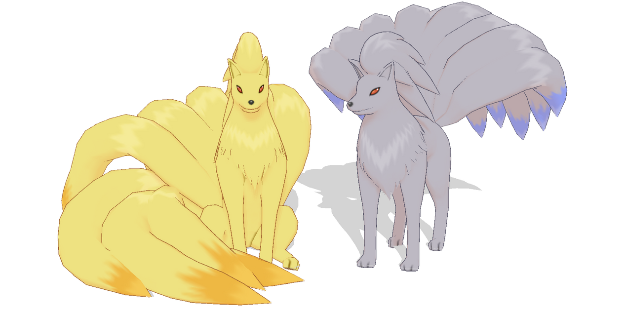 Ninetales pose DL by kaahgome