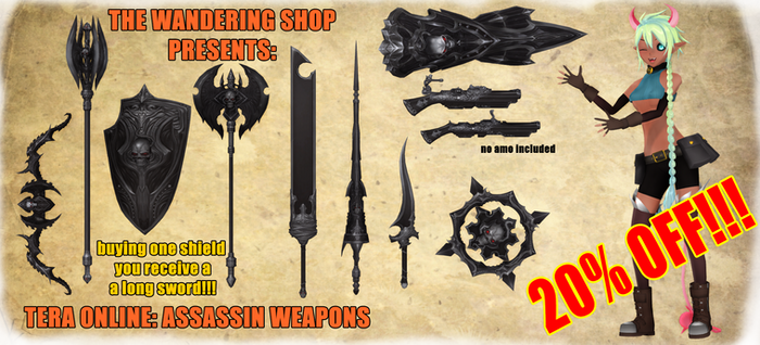 Tera - Assassin Weapons .: Download :. MMD
