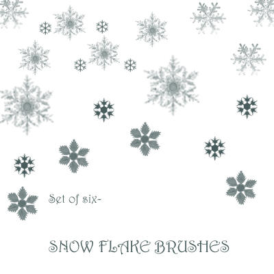 Snow Flake Brushes by SaldaeanFarmgirl