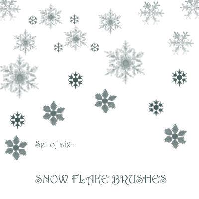 Snow Flake Brushes by SaldaeanFarmgirl