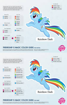 Rainbow Dash Color Guide 2.0 [UPDATED]