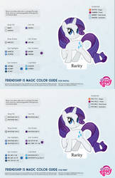 Rarity Color Guide 2.0 [UPDATED] by kefkafloyd