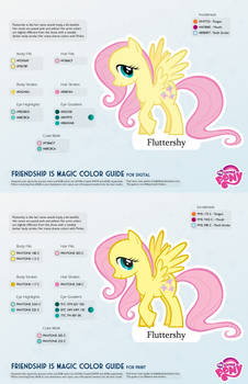 Fluttershy Color Guide 2.0 [UPDATED]