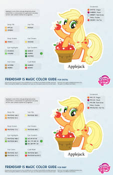 Applejack Color Guide 2.0 [UPDATED]