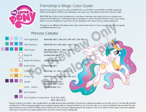 Princess Celestia Color Guide