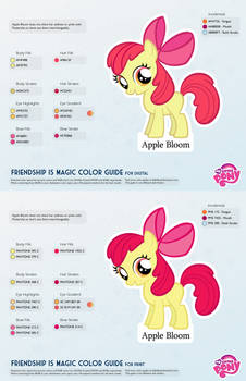 Apple Bloom Color Guide 2.0 [UPDATED]