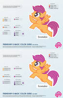 Scootaloo Color Guide 2.0 [UPDATED] by kefkafloyd
