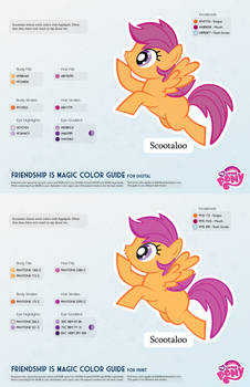 Scootaloo Color Guide 2.0 [UPDATED]