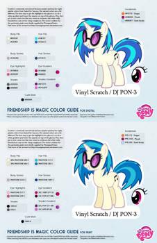 Vinyl Scratch / DJ PON-3 Color Guide 2.0 [UPDATED] by kefkafloyd