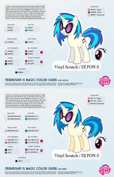 Vinyl Scratch / DJ PON-3 Color Guide 2.0 [UPDATED]