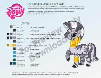 Zecora Color Guide by kefkafloyd