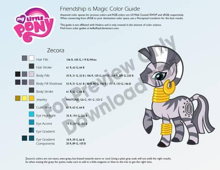 Zecora Color Guide