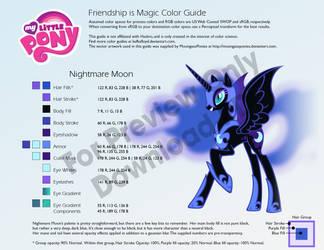 Nightmare Moon Color Guide by kefkafloyd