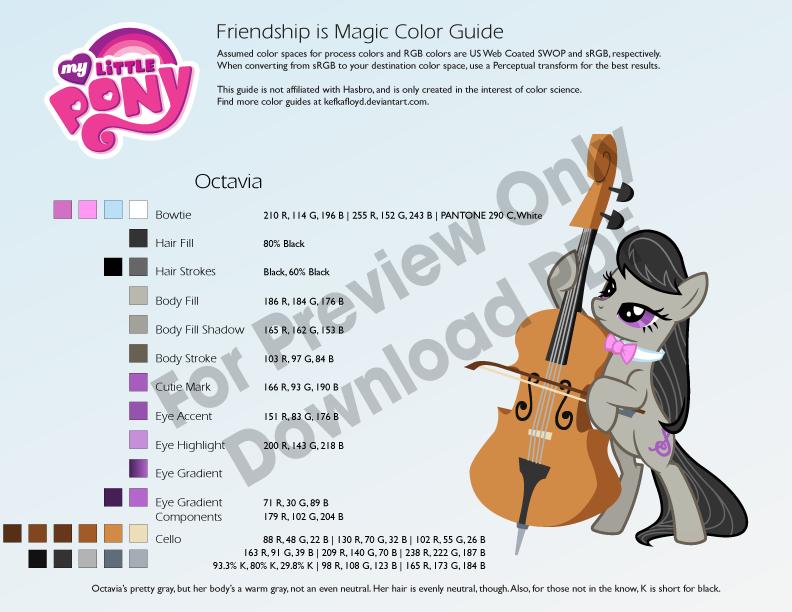 Octavia Color Guide by kefkafloyd